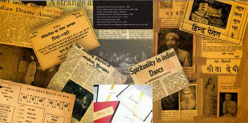 Press Clippings and Publicity Material archived at Natarang Pratishthan
